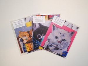 cats postcard set