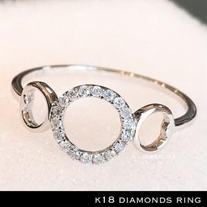 リング 18金 ダイアモンド k18 天然 ダイアモンド リング / k18 diamonds ring