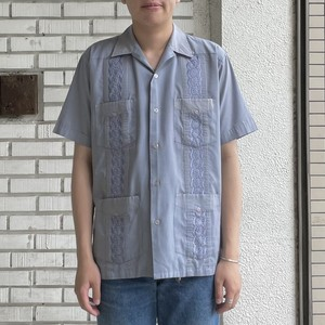 USED POLYESTER COTTON S/S CUBA SHIRTS