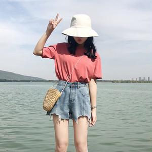 【ボトムス】新作夏ハイウエストレトロストレートショートパンツ