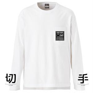 切手 L/S T-shirt WHITE
