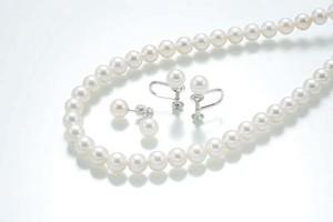 あこや真珠ネックレス2点セット(カラー:ホワイト)