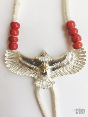 FLASHBACK最新作Japan HandMade Silver925 Eagle Top Necklace Large