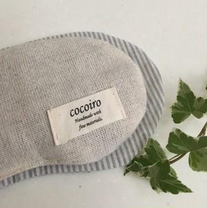 【organic】小豆のアイピローLサイズ  リネン/オーガニックコットンのカバー付き