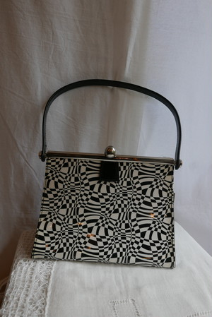 French Mono tone Marble Hand Bag -Dead Stock-