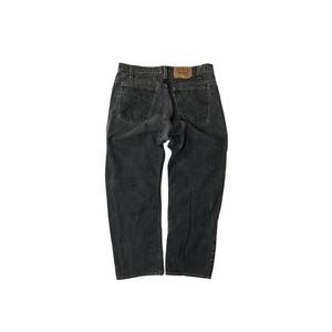 "90's ""LEVI'S / 505"" (36×32) YARN DYED BLACK DENIM PANTS"