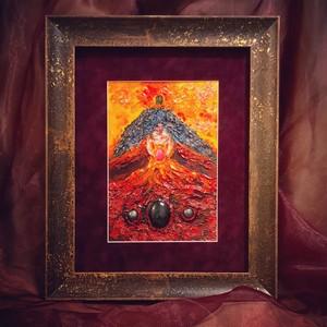 ストーンアート 火の女神「ペレ」