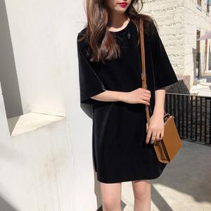 【tops】Tシャツラウンドネックエレガント韓国系ファッション