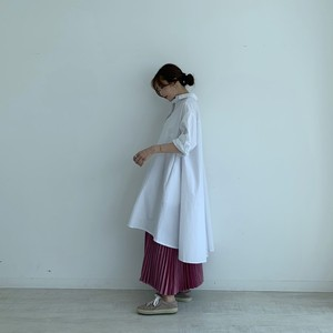 flare shirts onepiece /  white 10/11 21:00 ~ 再販 (即納)