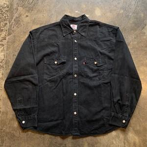 Levi's リーバイス コットンシャツ ブラックXL