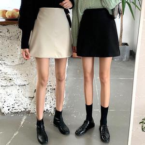 【送料無料】全2色♡台形スカート♡ミニ丈♡