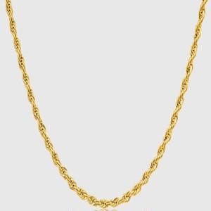 18kpg diamond cut rope chain 【3mm/GOLD】