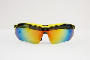 スポーツサングラス ST-3503 C-2 替レンズ付 度付対応 イエロー