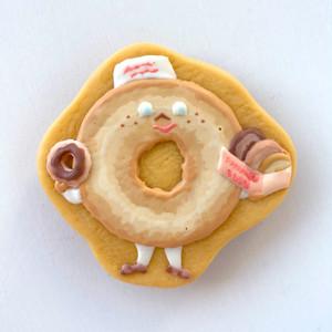 D.H.C. Cookie brooch (Mr. Donut Heart <B>)