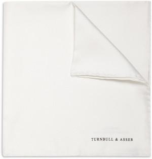 【Turnbull & Asser】 ターンブル&アッサー シルク ポケットチーフ 白