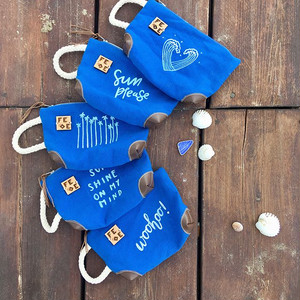 FEDE Summer Blues Purse Cuore