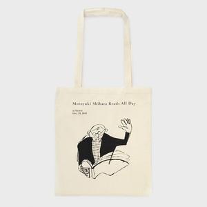 "TOTE BAG ""Motoyuki Shibata Reads All Day"""