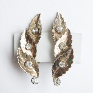 gold leaf earring[e-1131]
