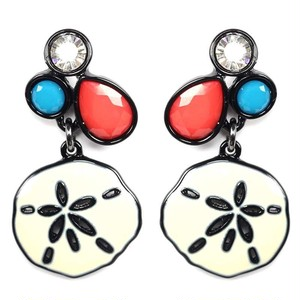 Colorful SAND DOLLAR Pierce (EE0319)
