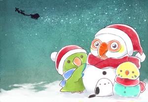 クリスマスポストカード*野茂
