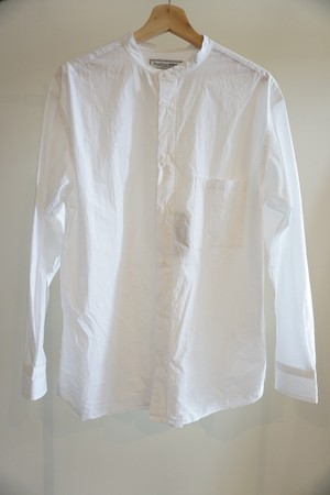 BAND COLLAR SHIRTS [WHITE]