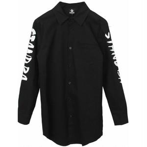 メンズバック&長袖ロゴシャツ。ブラック/レッド