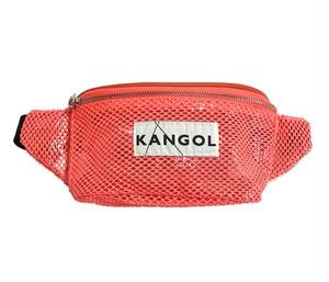 KANGOL (カンゴール)  メッシュ ウエストバッグ (KGSA-BG00098) オレンジ
