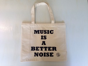 "STEPPERS RECORDS ""MUSIC IS A BETTER NOISE TOTE BAG"""