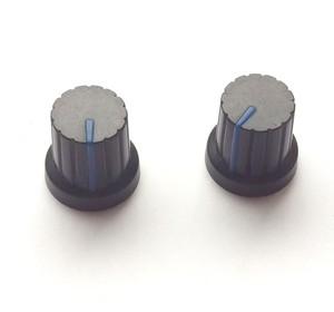 【マグネット】シンセツマミ型マグネット 黒×ブルー Synth Knob Magnet SKM