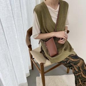 linen big vest/olive
