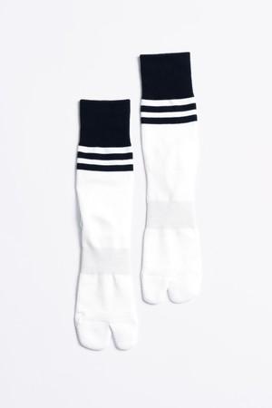 '90s Line Socks(White × Navy)