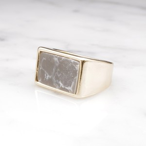 【RESTOCK】SQUARE MARBLE RING