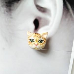 可愛い犬のピアス:片耳(オーダー注文)