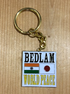 [ Bedlam ] WORLD PEACE KEYCHAIN