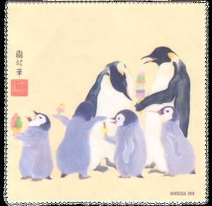 ペンギン親子のマルチクロス