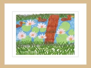 プリント額絵:Saiko作「私のお庭」