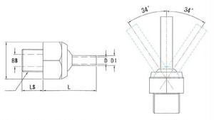 JTSN-3/8-70 高圧専用ノズル
