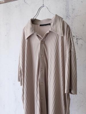 design rib knit shirt