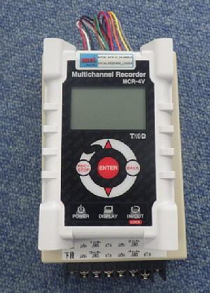 小型4ch電圧ロガー プレヒート電源ボックス付 CTD-MCR-4V_ML3400LG