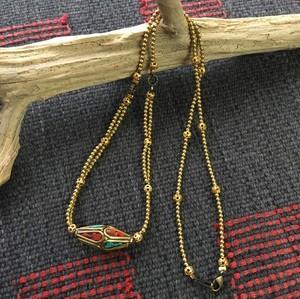 ネパールビーズのネックレス