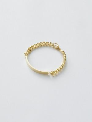 WEISS Plate Chain Bracelet Gold wei-brgd-16