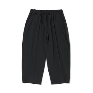 CROPPED TAPERED SARROUEL PANTS -BLACK