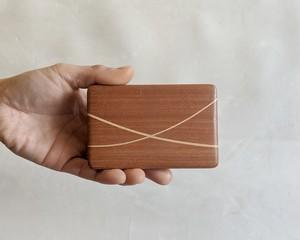 【ご自分用におすすめ】 木製 寄木 名刺入れ/カードケース【F】 【送料無料】