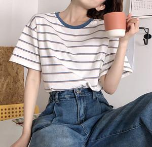 ストライプルーズTシャツ D2071