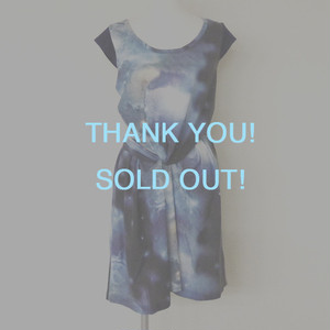 【Sample Sale】Space print dress