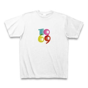 カラフルタイポグラフィ1969TシャツB