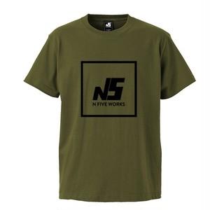 N5 ロゴTシャツ 半袖 カーキ