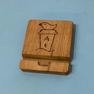 くるみの木のスタンド(オリジナル焼き彫り入り)