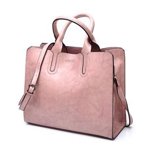 PUレザーハンドバッグ トランクトート ショルダーバッグ ラージボルソス pink