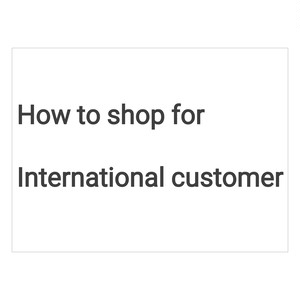 How to shop from overseas